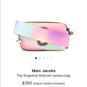 Marc Jacobs Rainbow Snapshot Camera Bag NWOT